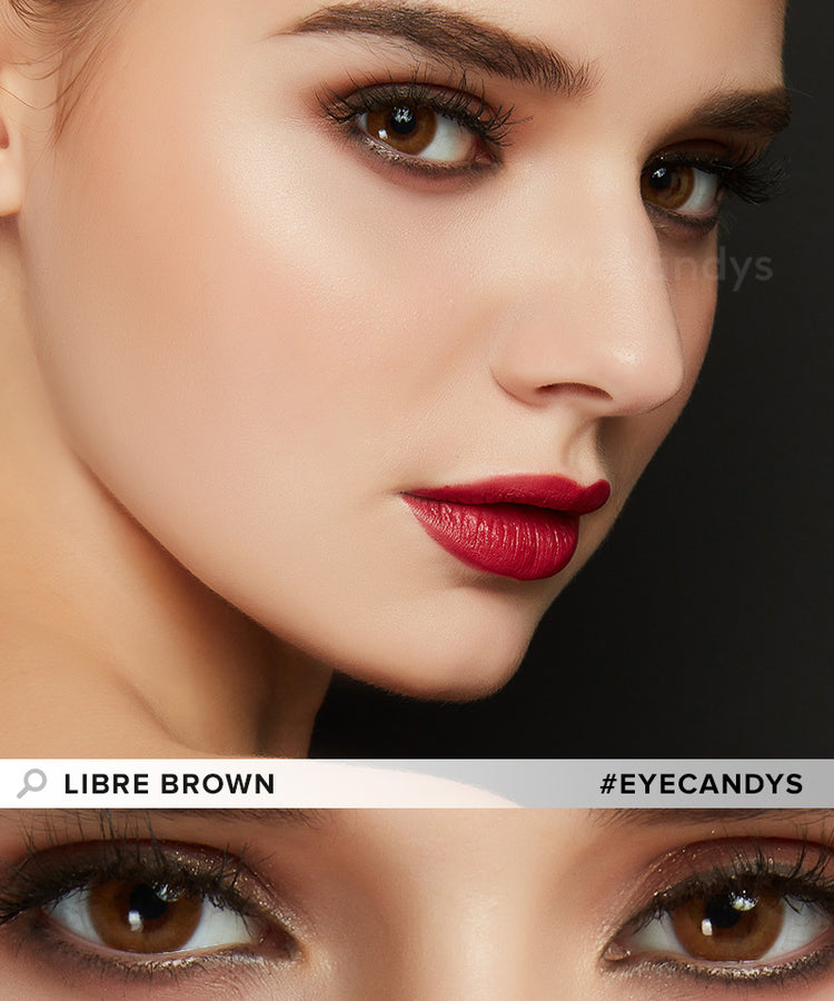 Buy EyeCandy's Libre Brown Colored Contacts Best | EyeCandys