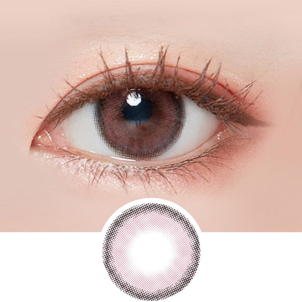 Lenstown Lighly Rose Pink colored contacts circle lenses - EyeCandy's