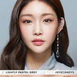 Lenstown Lighly Pastel Grey colored contacts circle lenses - EyeCandy's
