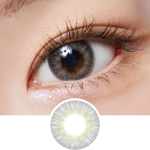 Lenstown Lighly Pure Grey colored contacts circle lenses - EyeCandy's