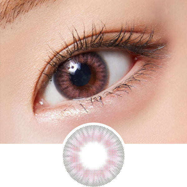 Lenstown Lightly Pastel Pink colored contacts circle lenses - EyeCandy's