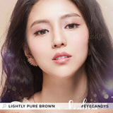Lenstown Lightly Pure Brown colored contacts circle lenses - EyeCandy's