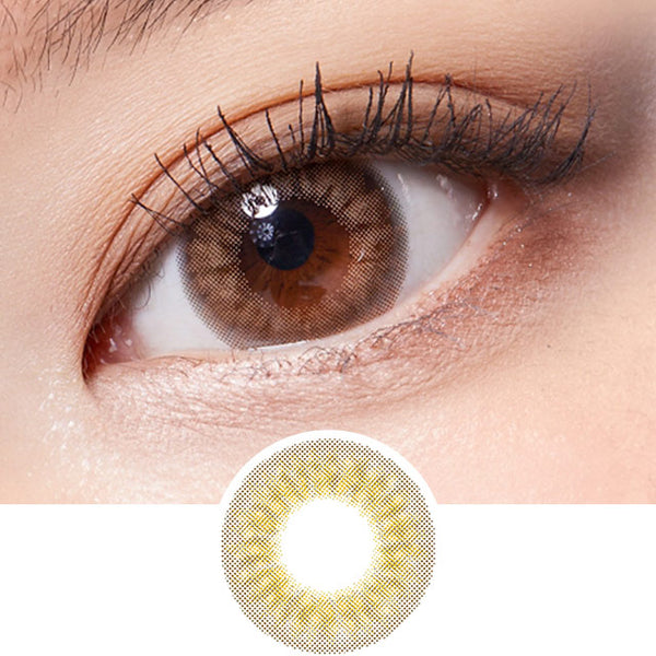 Lenstown Lighly Pastel Brown colored contacts circle lenses - EyeCandy's