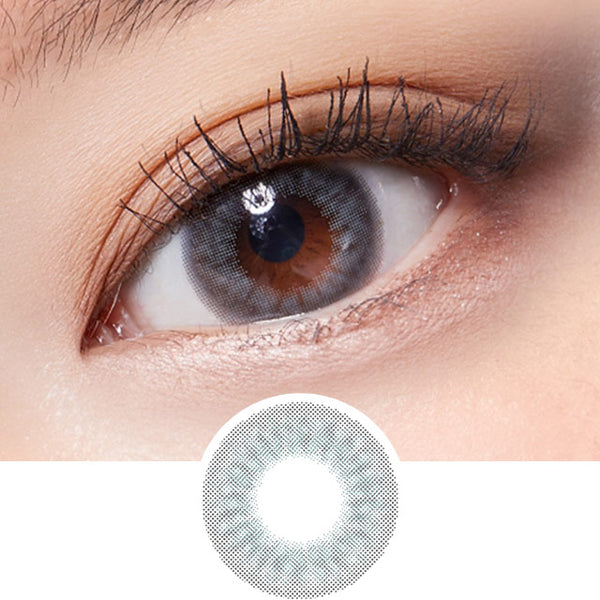 Lenstown Lightly Pastel Grey colored contacts circle lenses - EyeCandy's