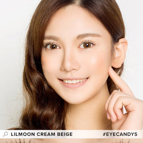 Lilmoon Monthly Cream Beige (Prescription) colored contacts circle lenses - EyeCandy's