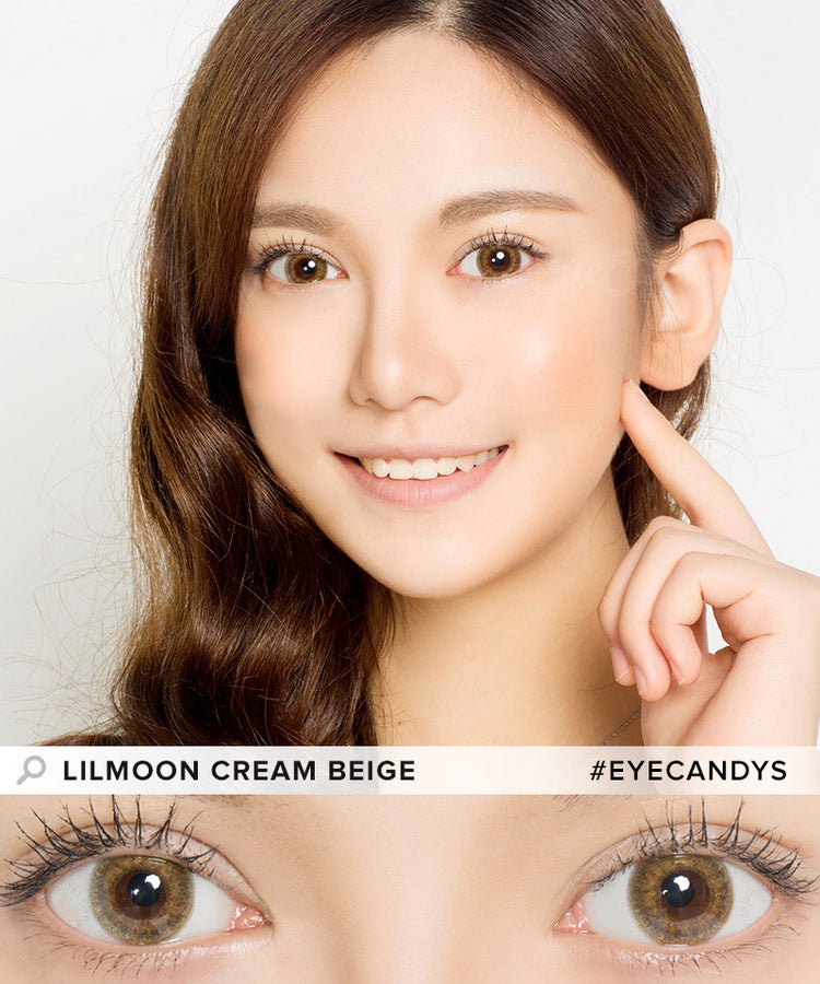 Buy Lilmoon Monthly Cream Beige Prescription Colored Contacts | EyeCandys