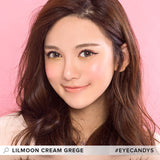 Lilmoon Monthly Cream Grege (Prescription) colored contacts circle lenses - EyeCandy's