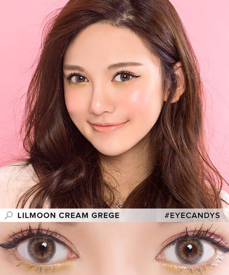 Buy Lilmoon Monthly Cream Grege Prescription Color Contacts | EyeCandys