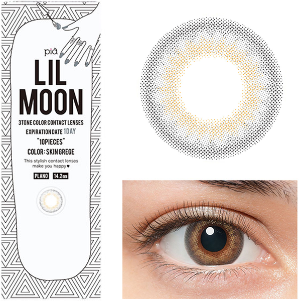 Lilmoon 1-Day Skin Grege 10 lenses/box - EyeCandy's