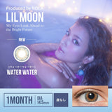 Lilmoon 1-Day Water Water Blue-Grey colored contacts circle lenses - EyeCandy's