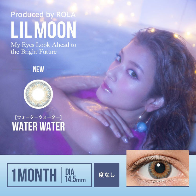 Buy Lilmoon 1-Day Water Blue-Grey Colored Contacts | EyeCandys
