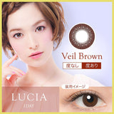 Lucia 1-Day Veil Brown