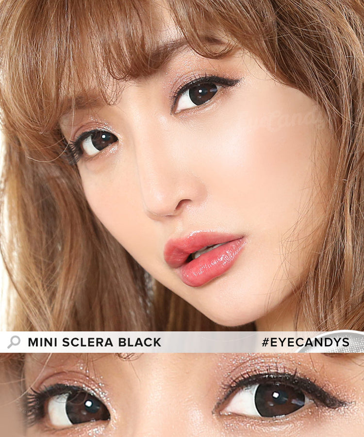 Buy EOS Mini Sclera Black Prescription Sclera Contacts | EyeCandys
