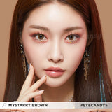 Lenstown Mystarry Brown colored contacts circle lenses - EyeCandy's