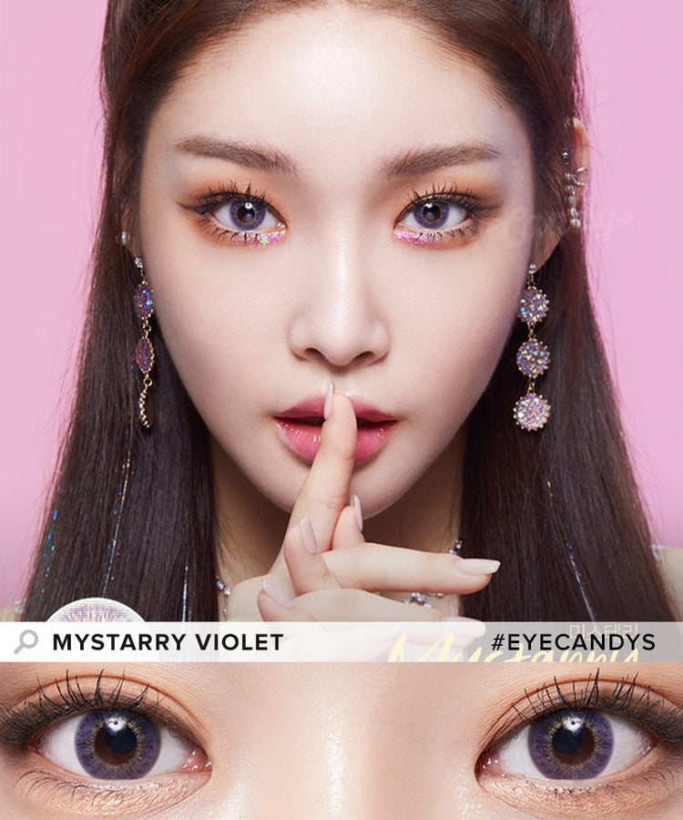 Buy Lenstown Mystarry Violet Prescription Colored Contacts | EyeCandys