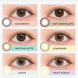 Load image into Gallery viewer, N's Collection Fruit Punch Brown colored contacts circle lenses - EyeCandy's