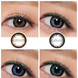 NEO Celeb Brown colored contacts circle lenses - EyeCandy's