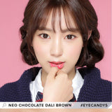 Load image into Gallery viewer, NEO Dali Chocolate Brown colored contact lenses - EyeCandys