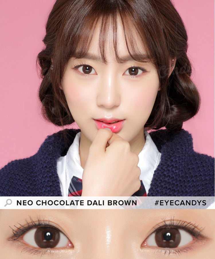 Buy NEO Dali Chocolate Brown Circle Lenses for Astigmatism | EyeCandys