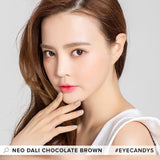 NEO Monthly Dali Chocolate Brown colored contacts circle lenses - EyeCandy's