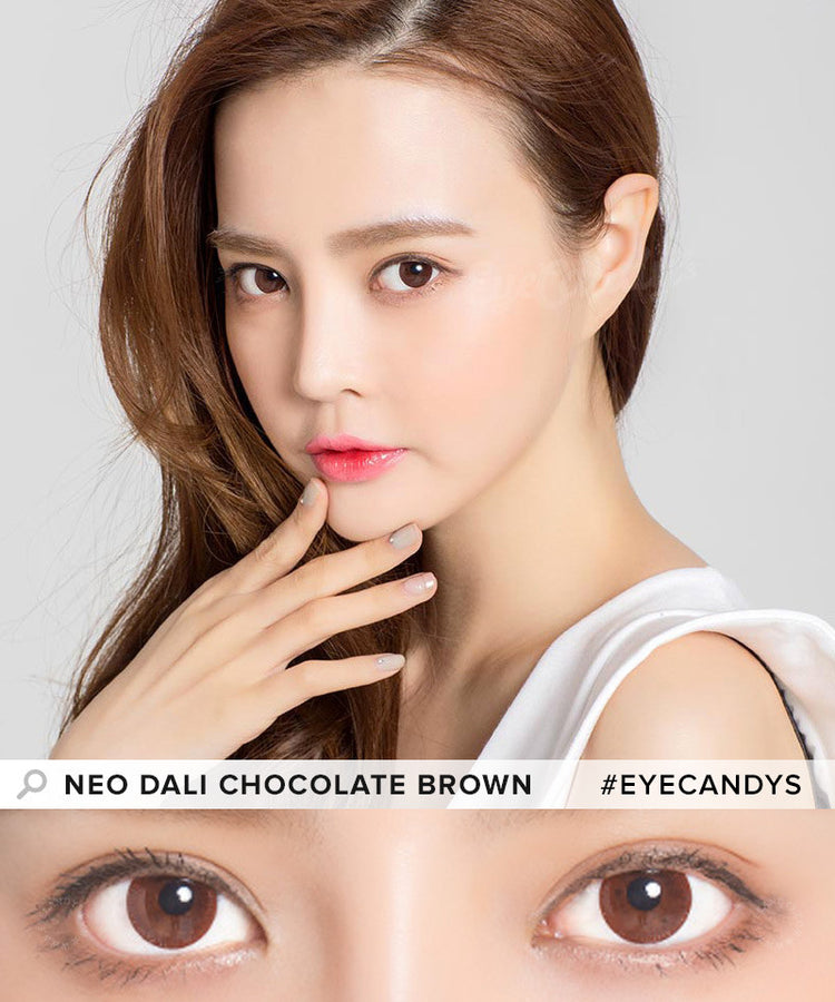 Buy NEO Monthly Dali Chocolate Brown Circle Lenses | EyeCandys