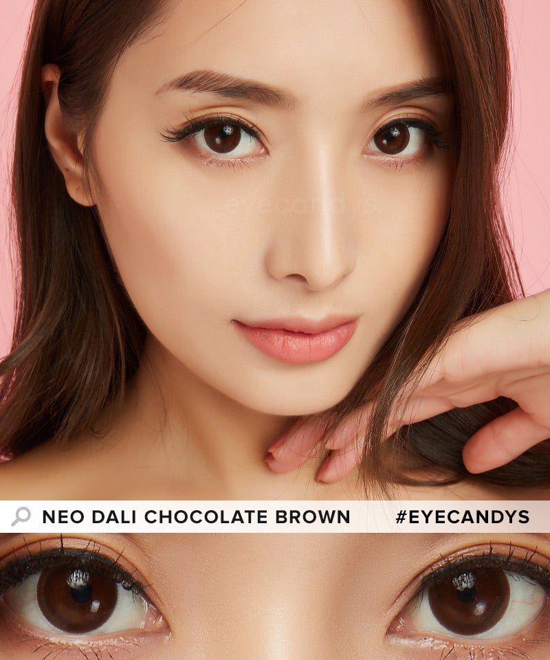 NEO Dali Chocolate Brown colored contact lenses - EyeCandys