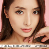 NEO Dali Chocolate Brown colored contacts circle lenses - EyeCandy's