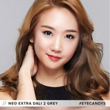 NEO Extra Dali 2 Grey colored contacts circle lenses - EyeCandy's