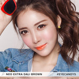 NEO Monthly Extra Dali Brown colored contacts circle lenses - EyeCandy's