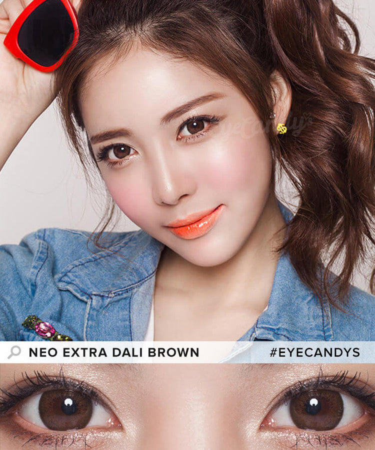 Buy NEO Monthly Extra Dali Brown Circle Lenses | EyeCandys