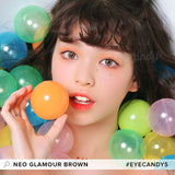 NEO Glamour Brown colored contacts circle lenses - EyeCandy's