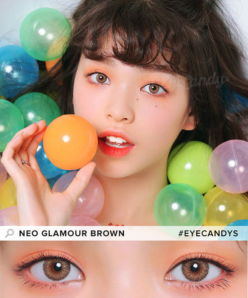Buy NEO Glamour Brown Colored Contacts | EyeCandys