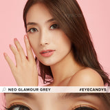 NEO Glamour Grey (Custom Toric) colored contacts circle lenses - EyeCandy's