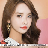 NEO Clover 4 Tone Brown colored contacts circle lenses - EyeCandy's