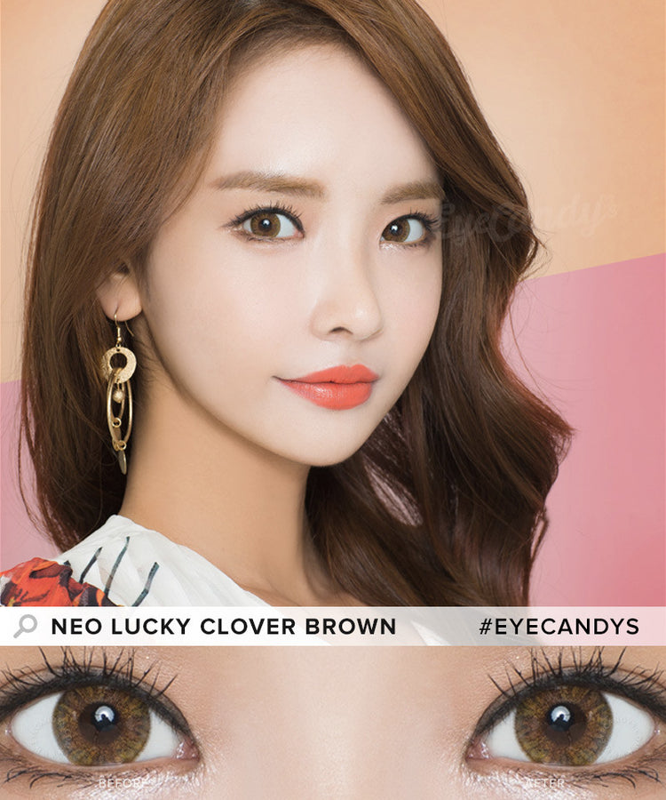 Buy NEO Clover 4 Tone Brown Colored Contacts | EyeCandys