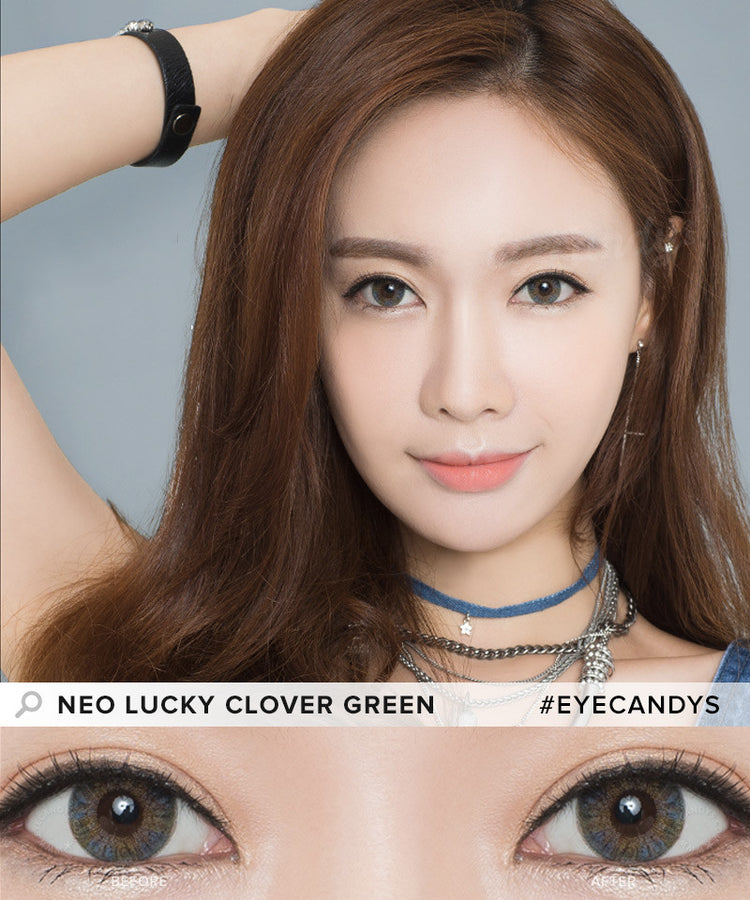 Buy NEO Clover 4 Tone Green Colored Contacts | EyeCandys