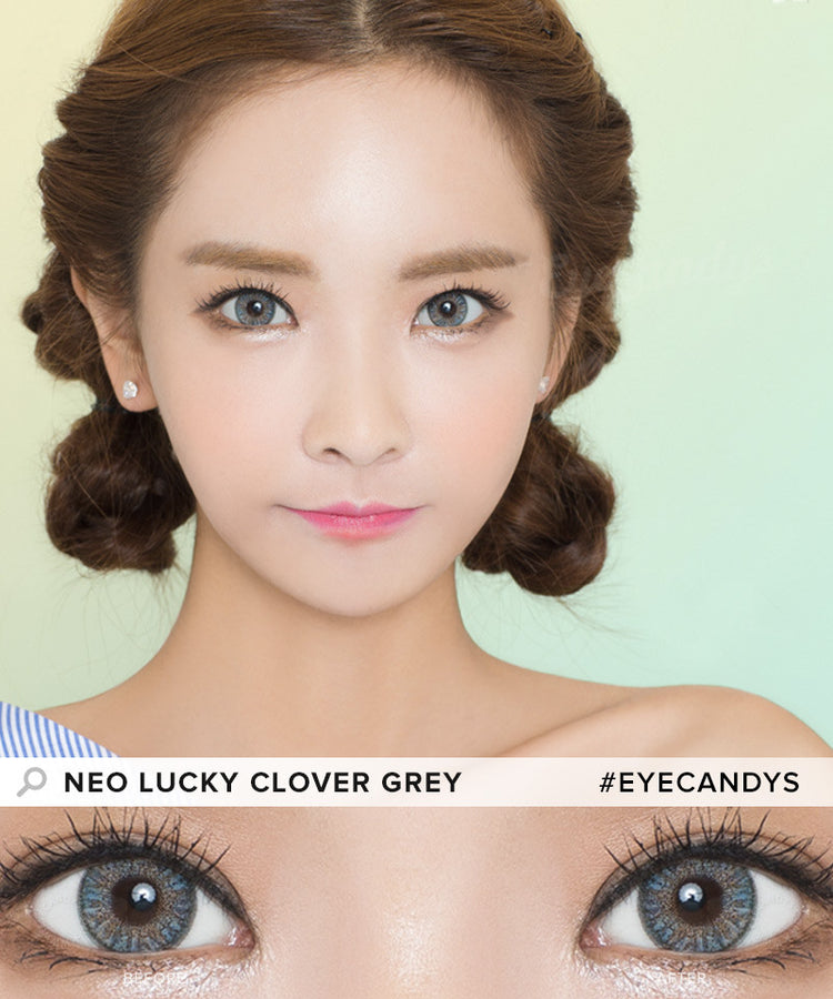 Buy NEO Clover 4 Tone Grey Colored Contacts | EyeCandys