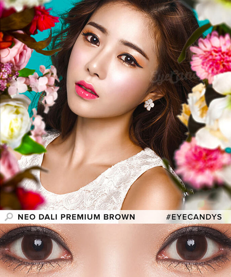 Buy NEO Dali Premium Brown Circle Lenses | EyeCandys