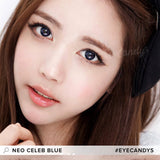 NEO Celeb Blue 1 pair (2 lenses) non prescription - EyeCandy's