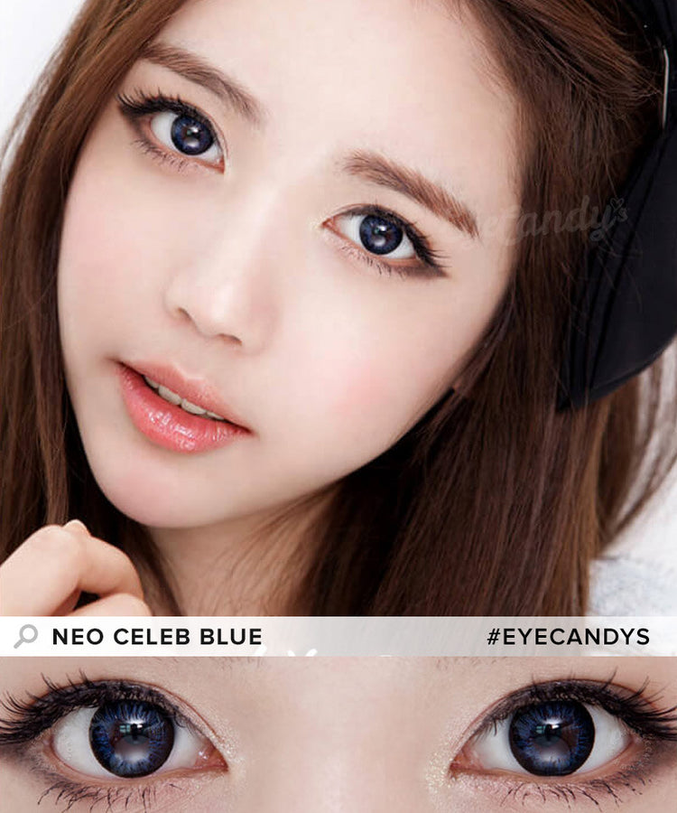 Buy NEO Celeb Blue Circle Lenses | EyeCandys