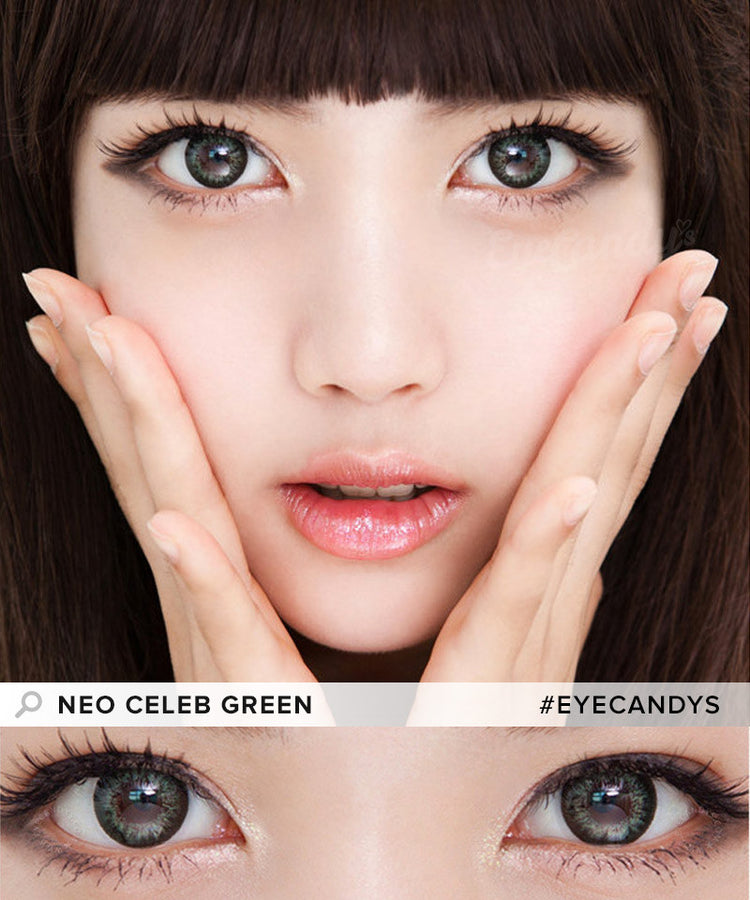 Buy NEO Celeb Green Circle Lenses | EyeCandys