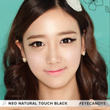NEO Natural Touch Black colored contacts circle lenses - EyeCandy's