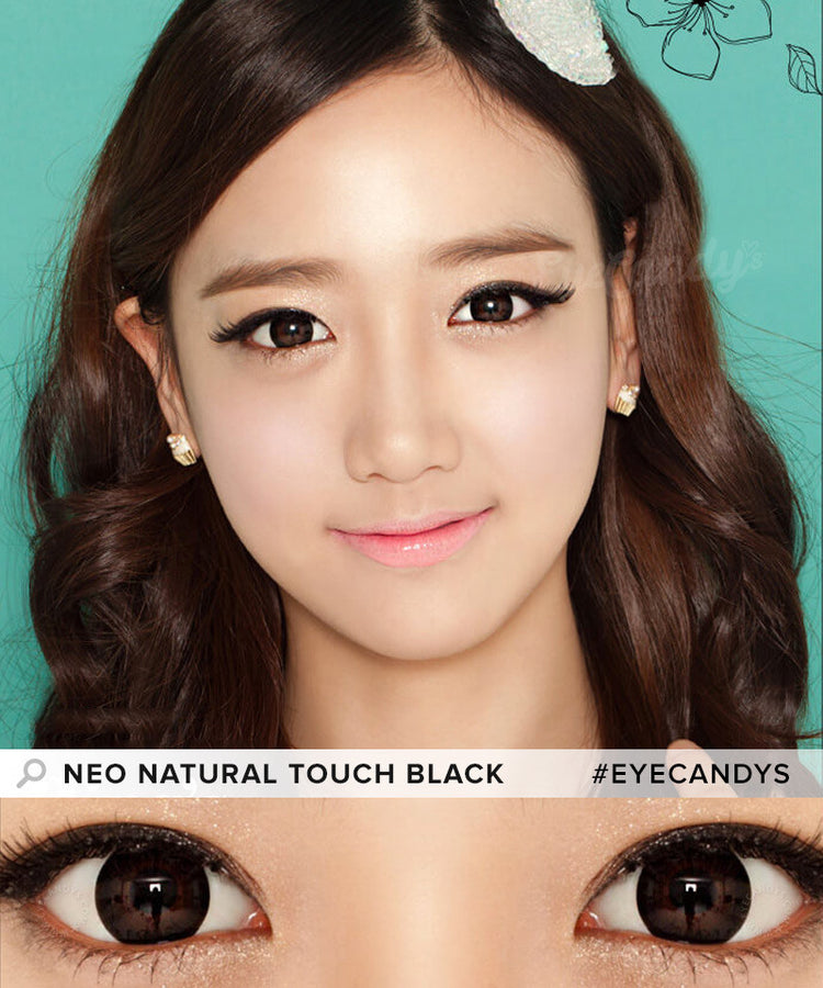 Buy NEO Natural Touch Black Circle Lenses | EyeCandys