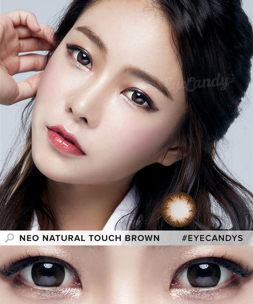 Non Prescription Colored Contacts >> Buy NEO Natural Touch Brown Circle Lenses   EyeCandys