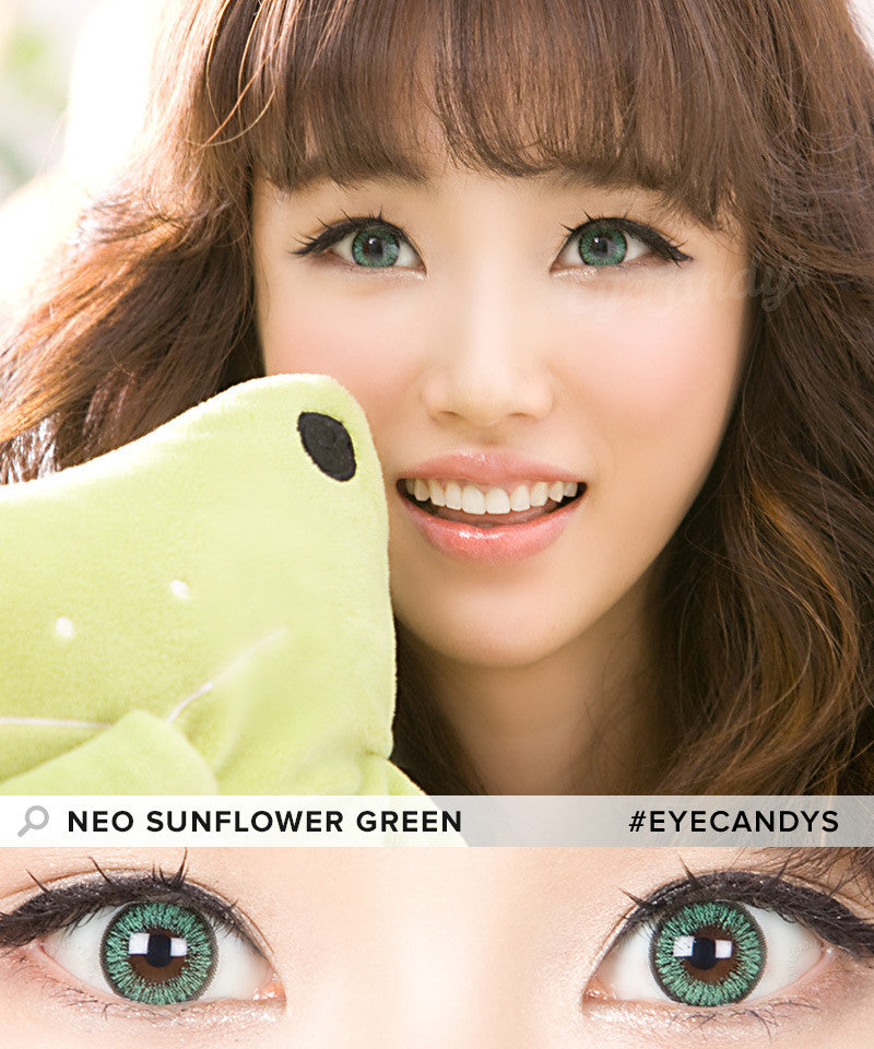 Buy NEO Sunflower Green Colored Contacts | EyeCandys
