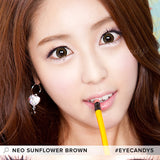 NEO Sunflower Brown 1 pair (2 lenses) - EyeCandy's