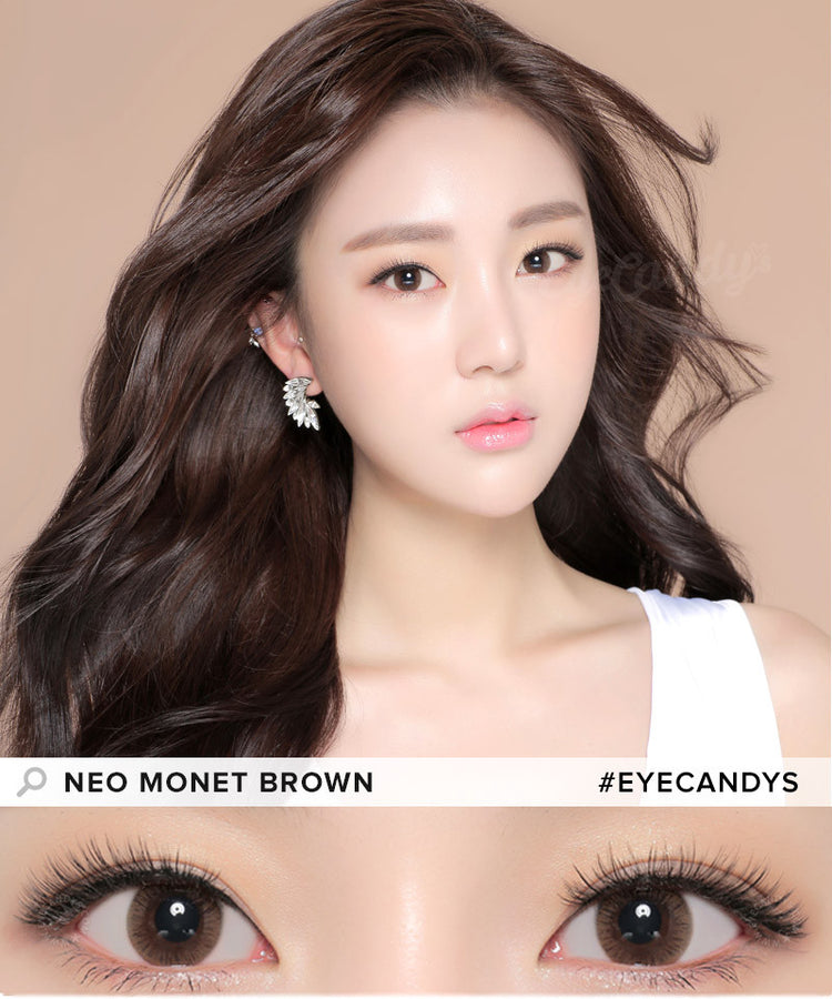 Buy NEO Monthly Monet Brown Circle Lenses for Astigmatism | EyeCandys