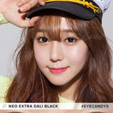 Load image into Gallery viewer, NEO Extra Dali Black (KR) colored contact lenses - EyeCandys