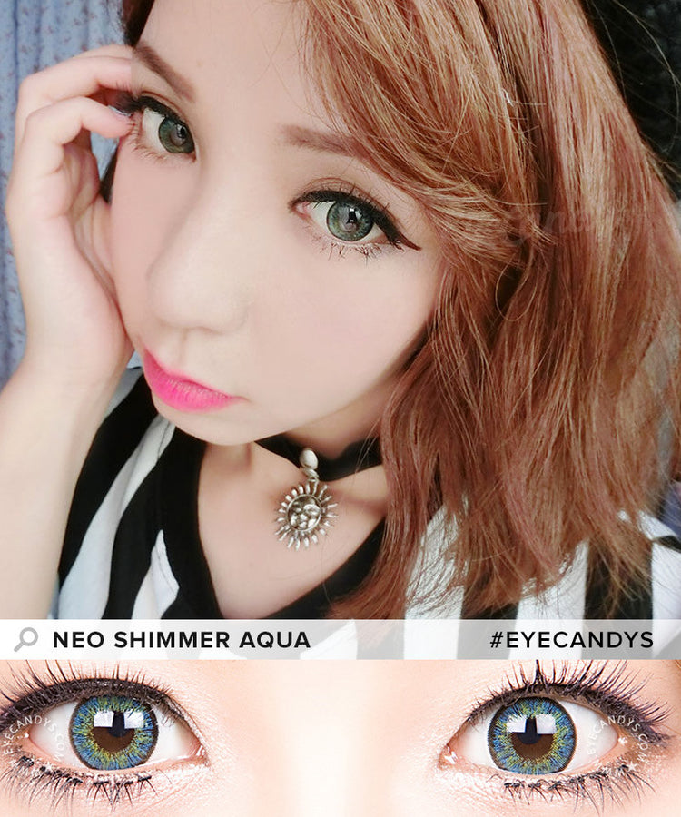 Buy NEO Shimmer Aqua Colored Contacts | EyeCandys