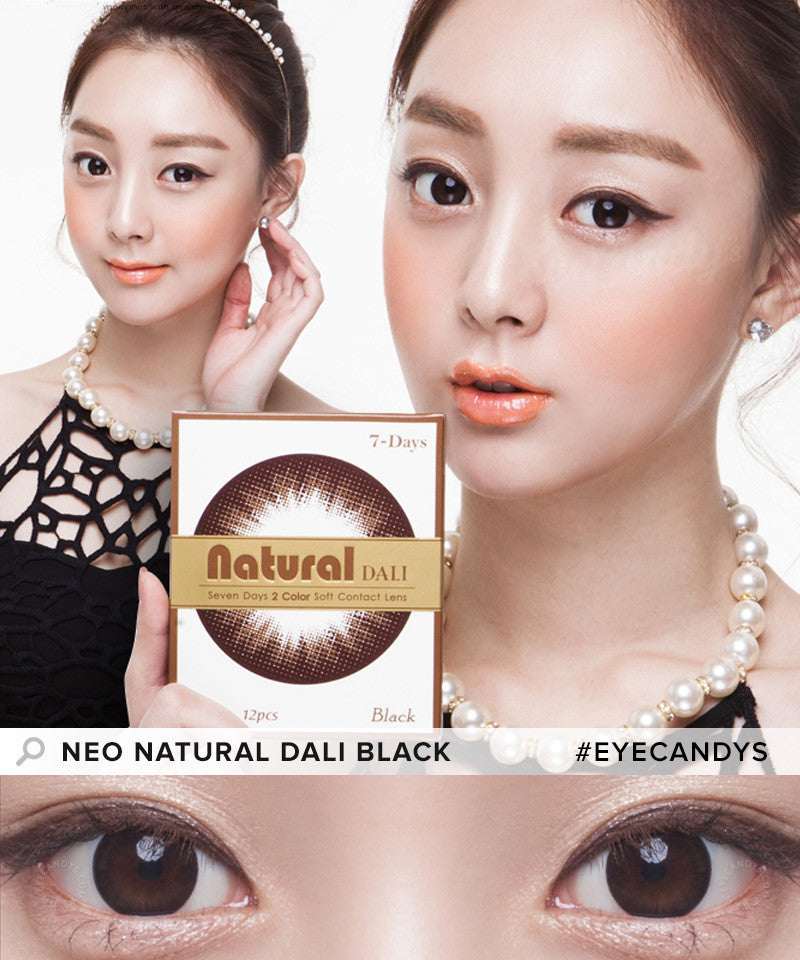 Buy NEO Weekly Natural Dali Black Circle Lenses | EyeCandys